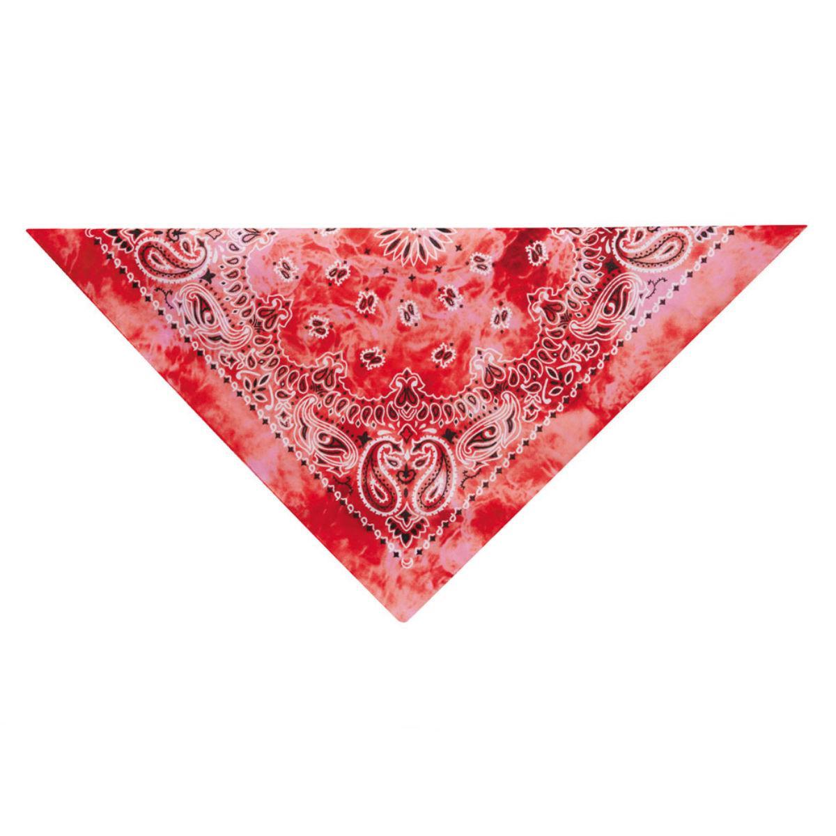 Aria Classic Tie Dye Dog Bandana - Red