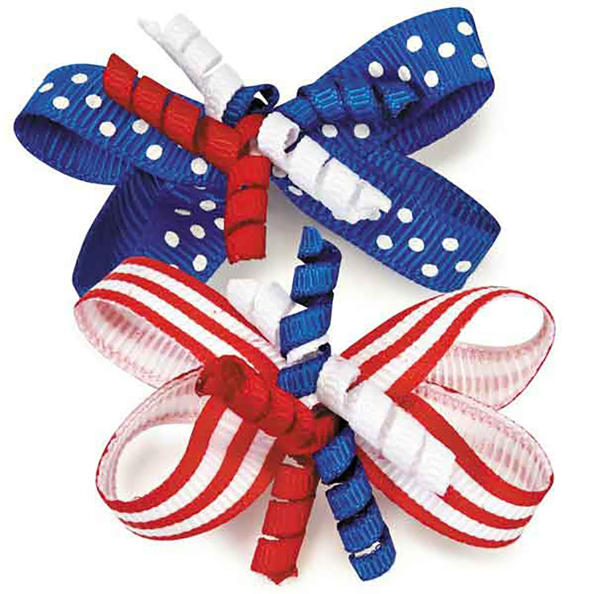 Aria Patriotic Celebration Dog Bows