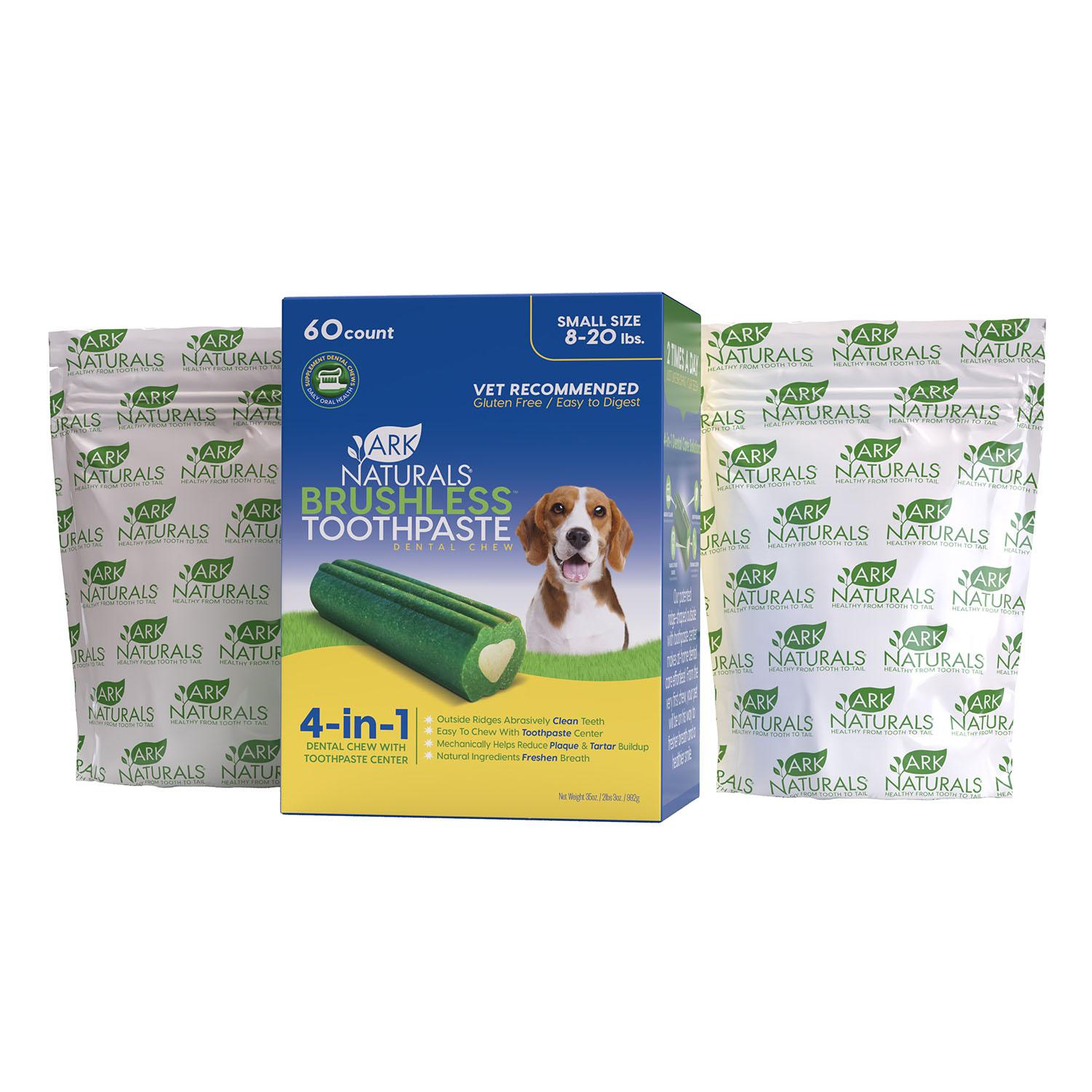 Ark Naturals Brushless Toothpaste Dog Chews - Value Pack