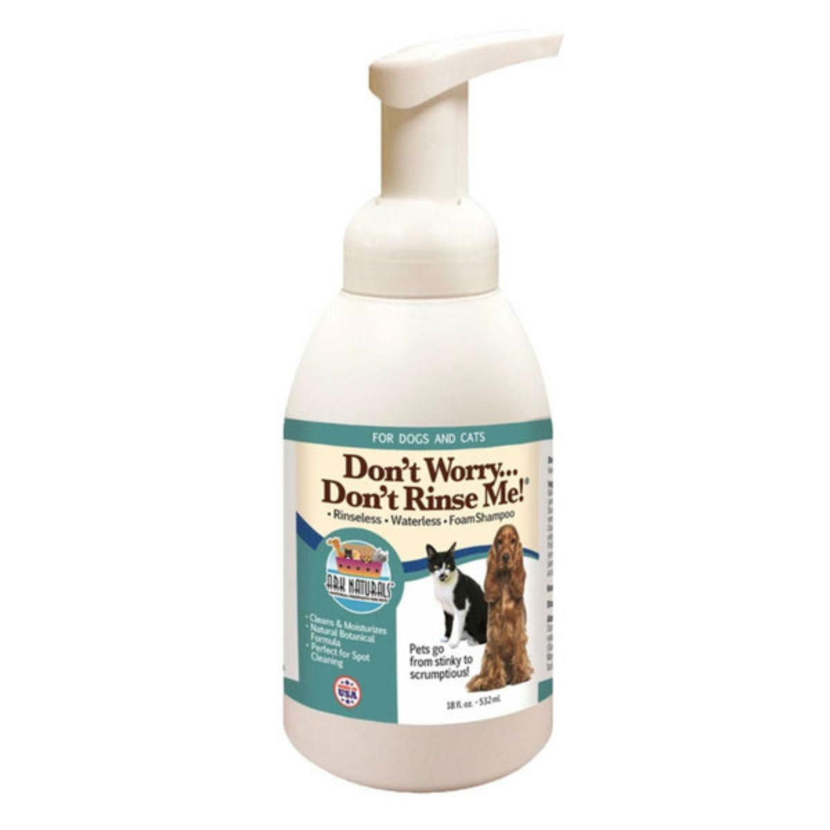Ark Naturals Dont Worry Dont Rinse Me Dry Pet Shampoo