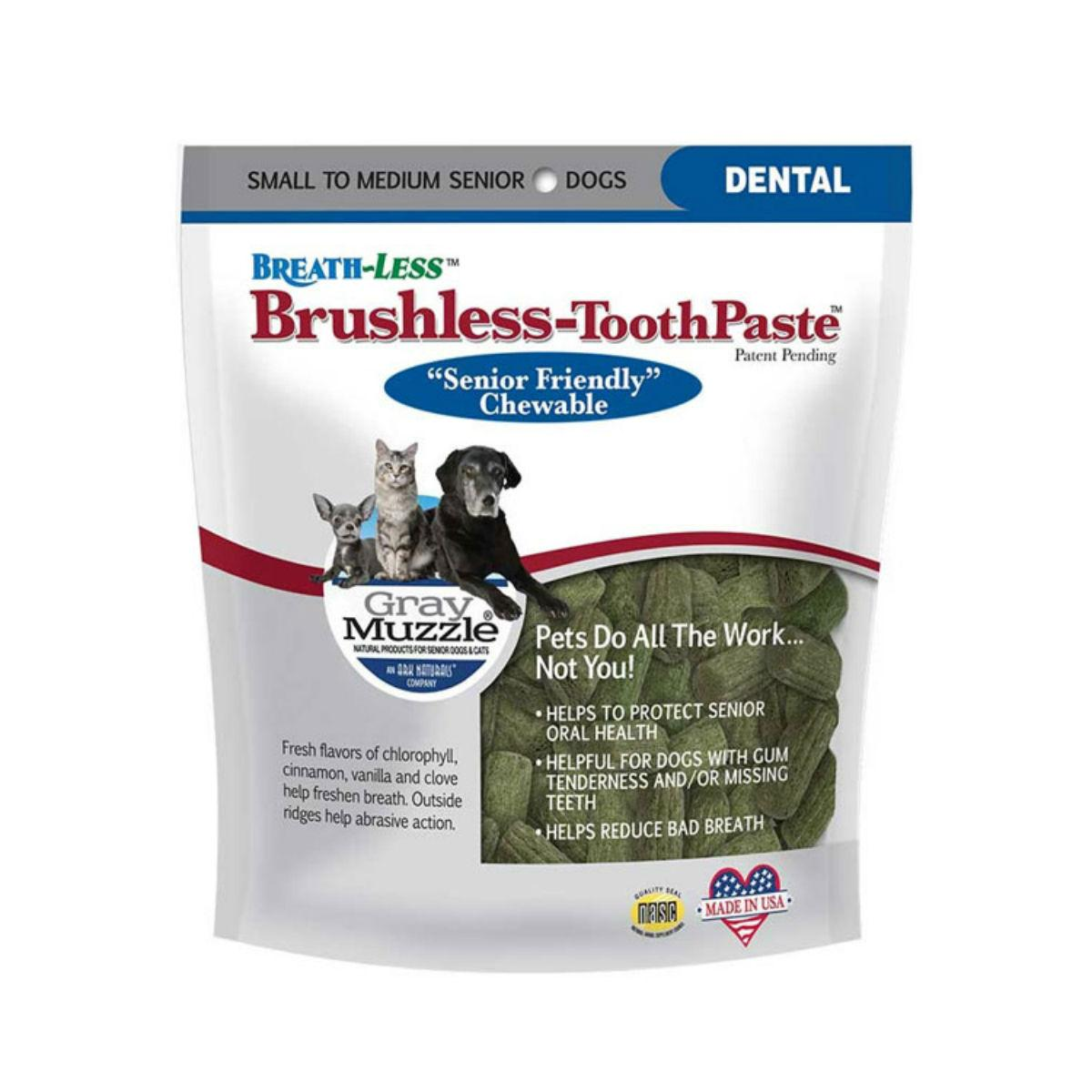 Ark Naturals Gray Muzzle Brushless Toothpaste Dog Chew