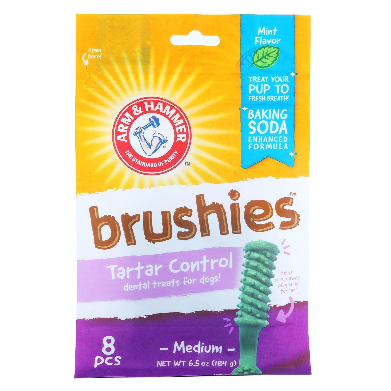 Arm & Hammer Dental Treats Brushies Dog Chews - Mint Flavor