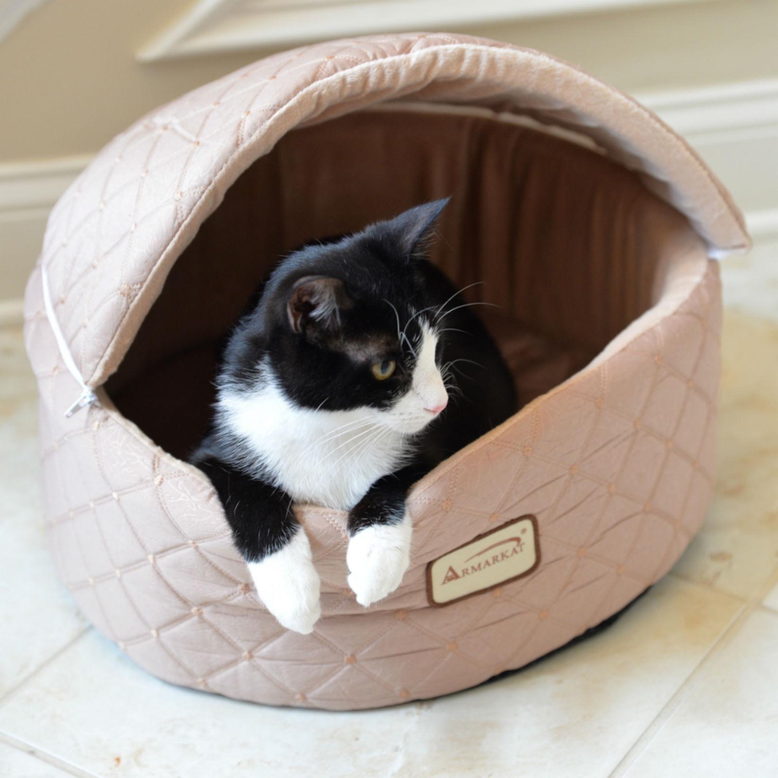 Armarkat Burrow Pet Bed - Apricot