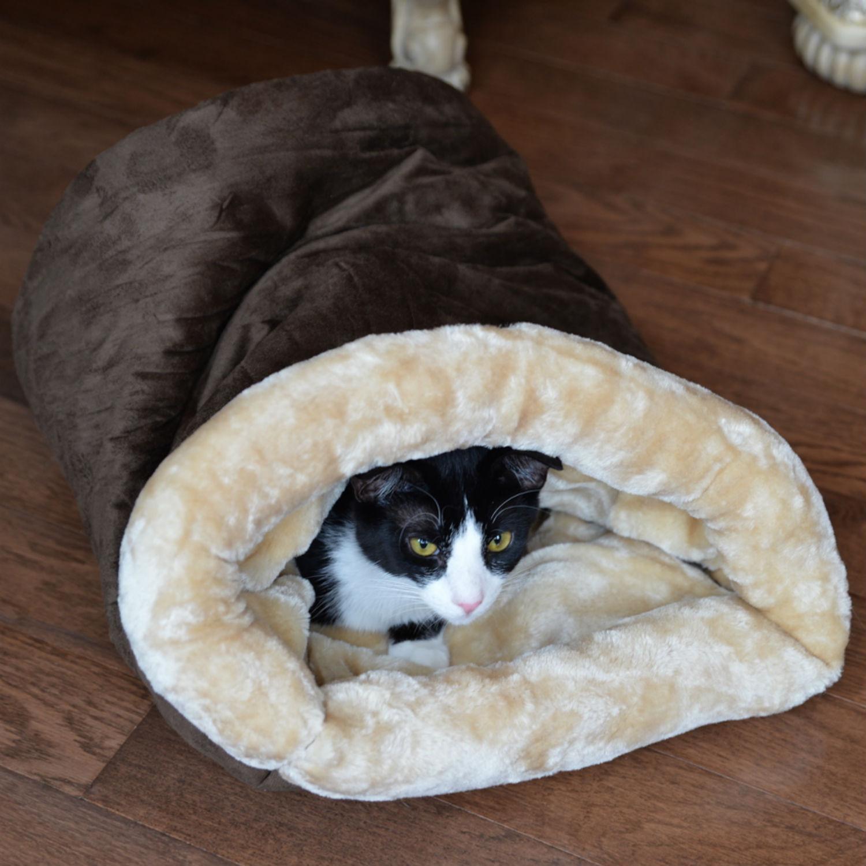 Armarkat Burrow Pet Bed - Mocha/Beige