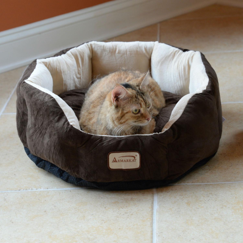 Armarkat Cozy Pet Bed - Mocha/Beige