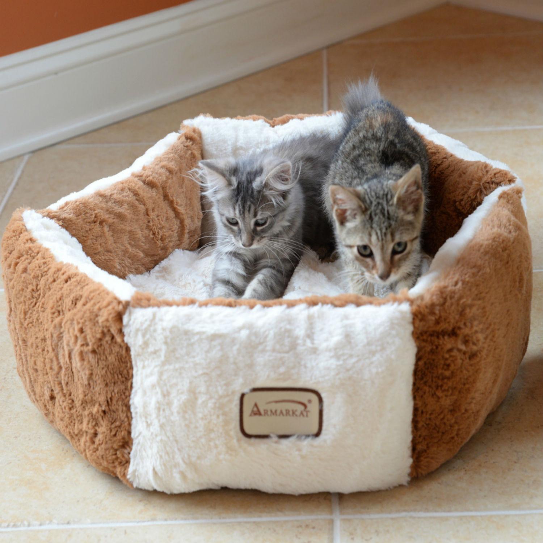 Armarkat Pet Bed - Brown/Ivory