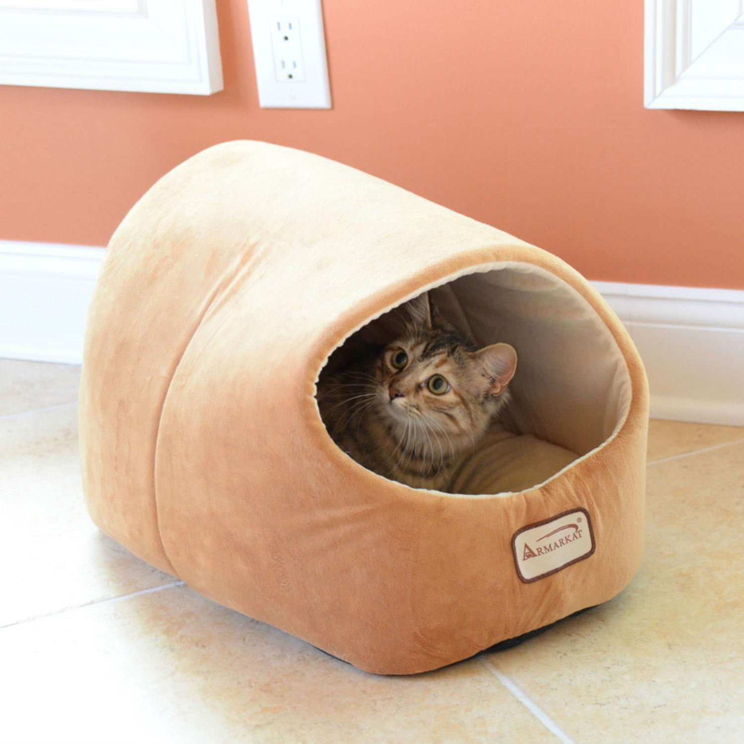 Armarkat Pet Bed Cave - Brown/Ivory