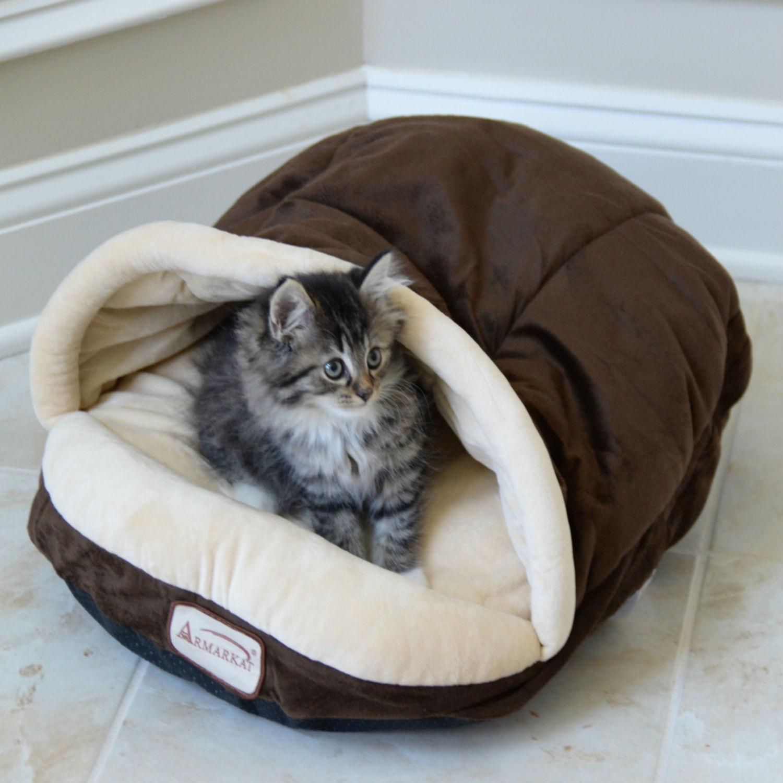 Armarkat Slipper Shape Pet Bed - Mocha/Beige