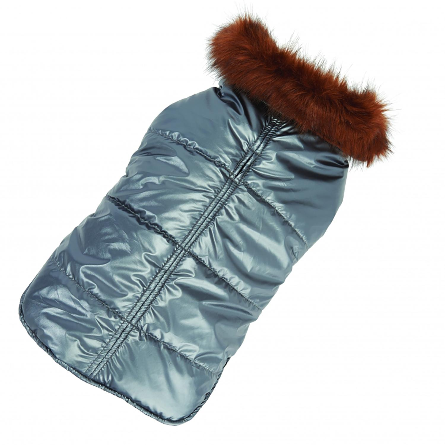 Aspen Puffer Dog Coat by Up Country - Silver