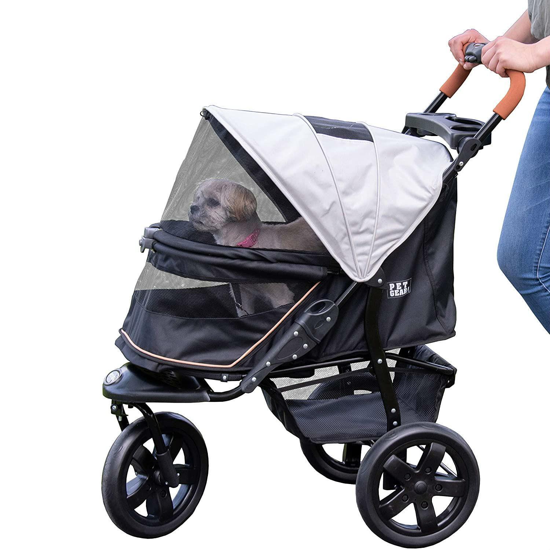 Pet Gear AT3 No-Zip Pet Stroller - Summit Grey