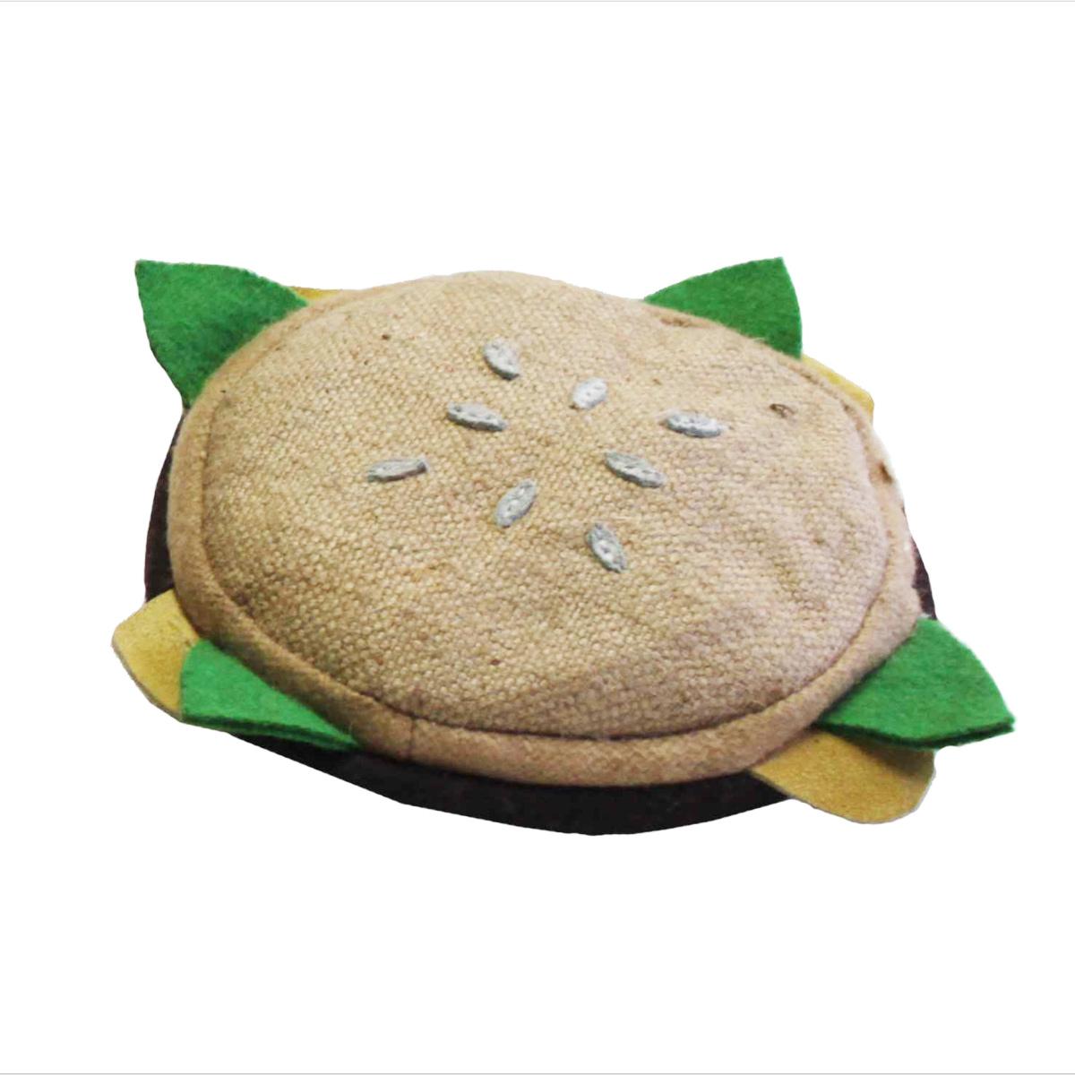 Aussie Naturals Lunch Dog Toy - Burger