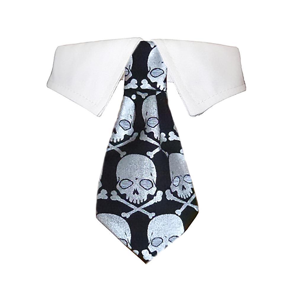 Crossbones Dog Shirt Collar and Tie