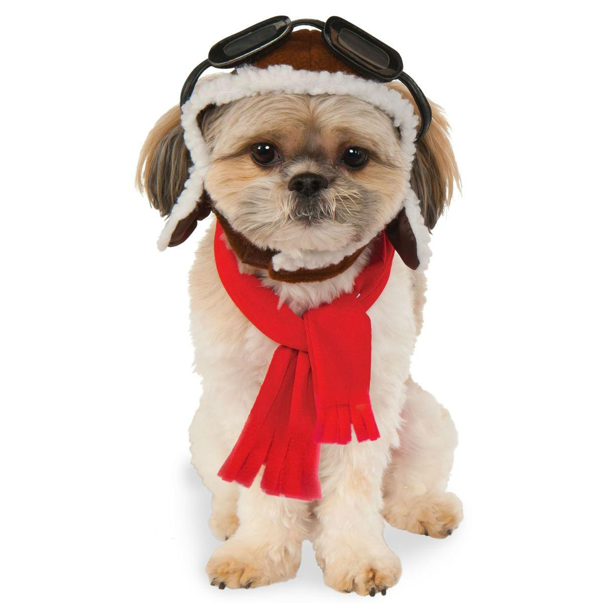 Aviator Scarf and Hat Dog Costume Set by Rubies