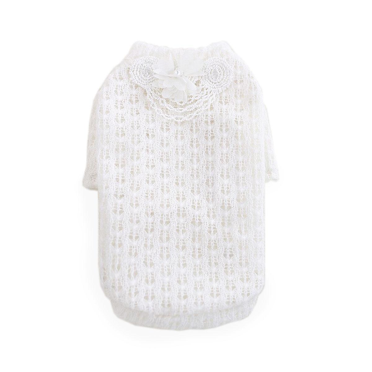 Sweet Magnolia Dog Sweater by Hello Doggie - White