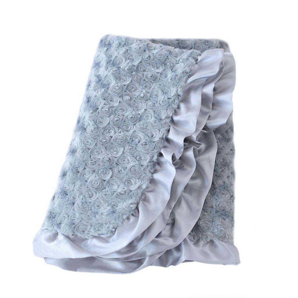 Baby Ruffle Dog Blanket by Hello Doggie - Silver