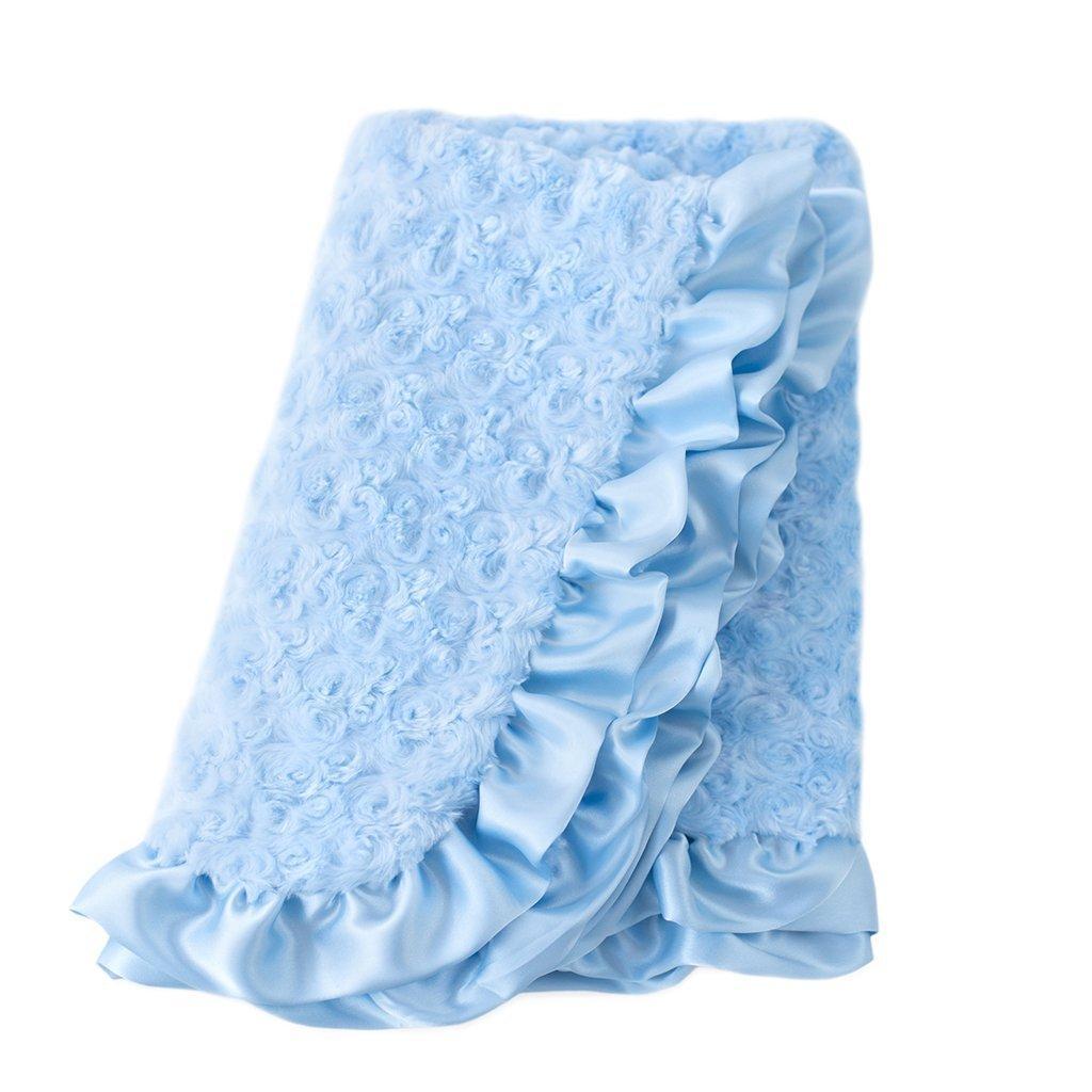 Baby Ruffle Dog Blanket by Hello Doggie - Baby Blue