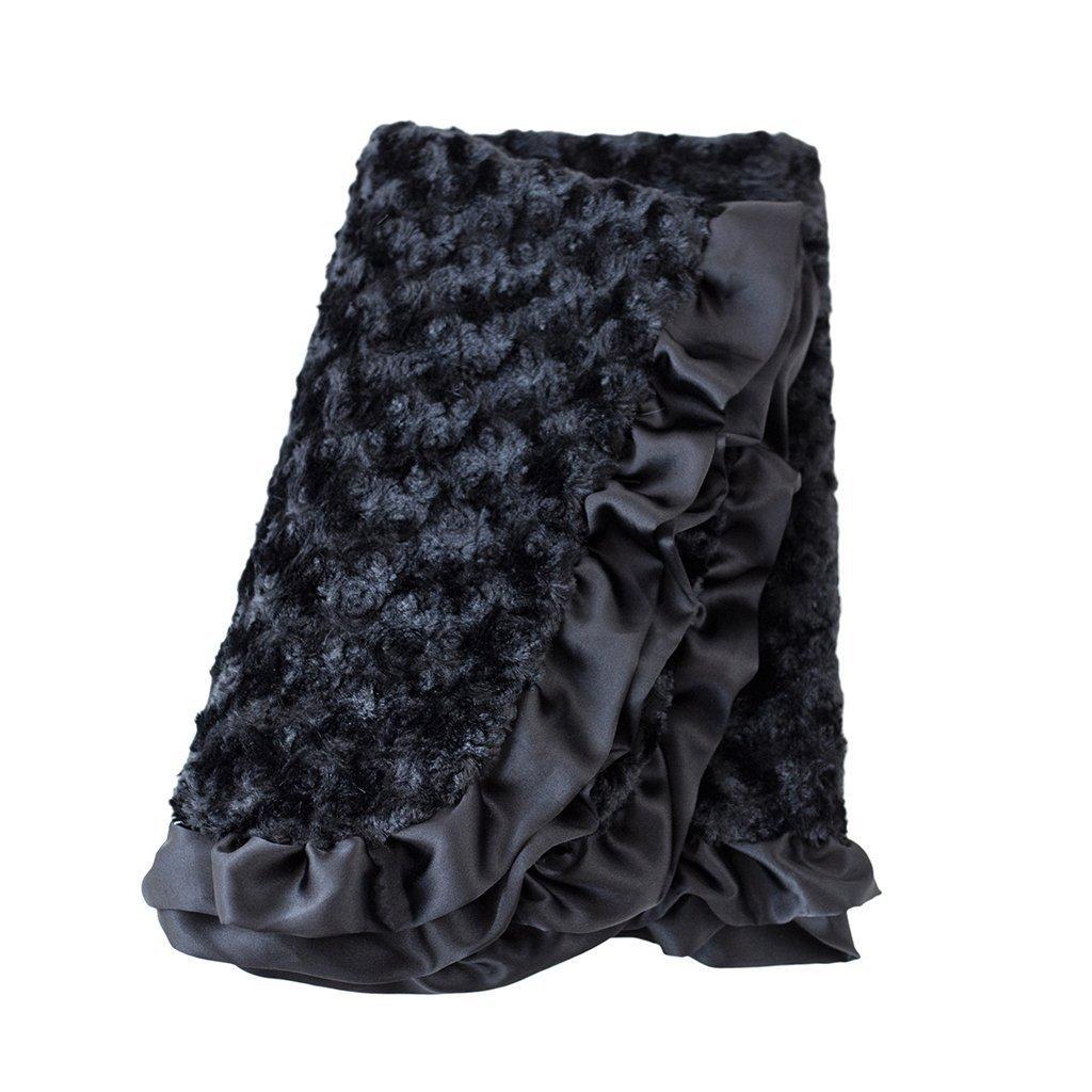 Baby Ruffle Dog Blanket by Hello Doggie - Black