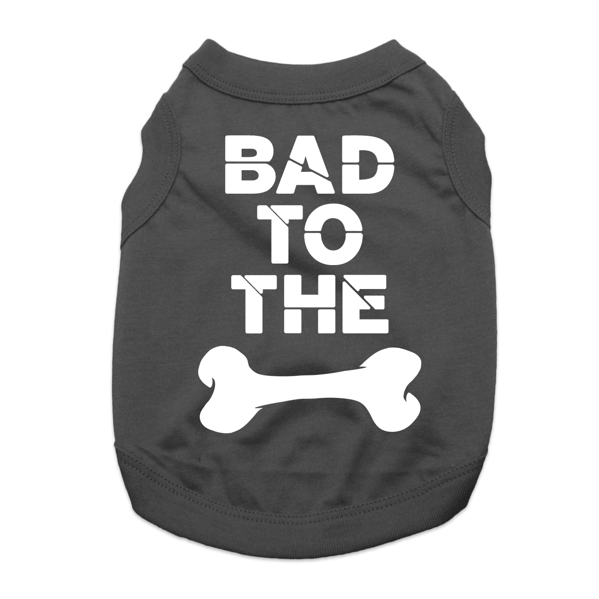 Bad to the Bone Dog Shirt Black with Same Day Shipping