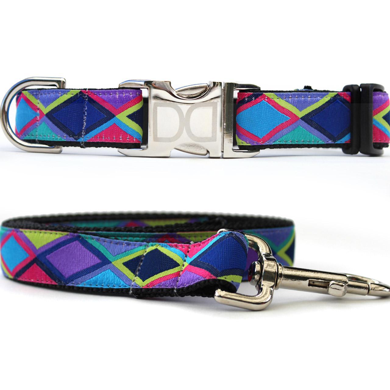 Tanzania Dark Dog Collar and Leash Set by Diva Dog