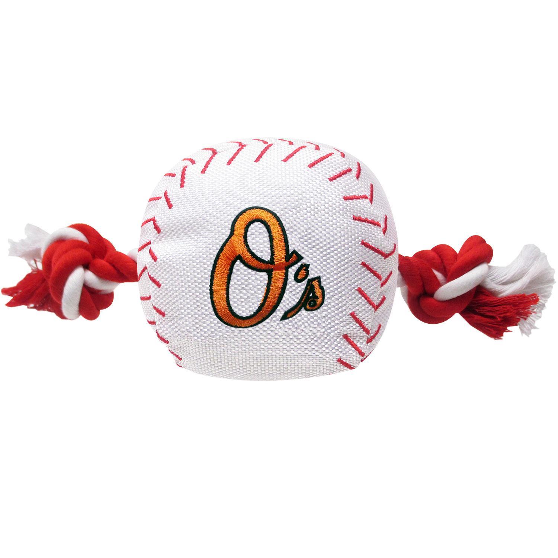 Baltimore Orioles Nylon Plush Baseball Rope Dog Toy