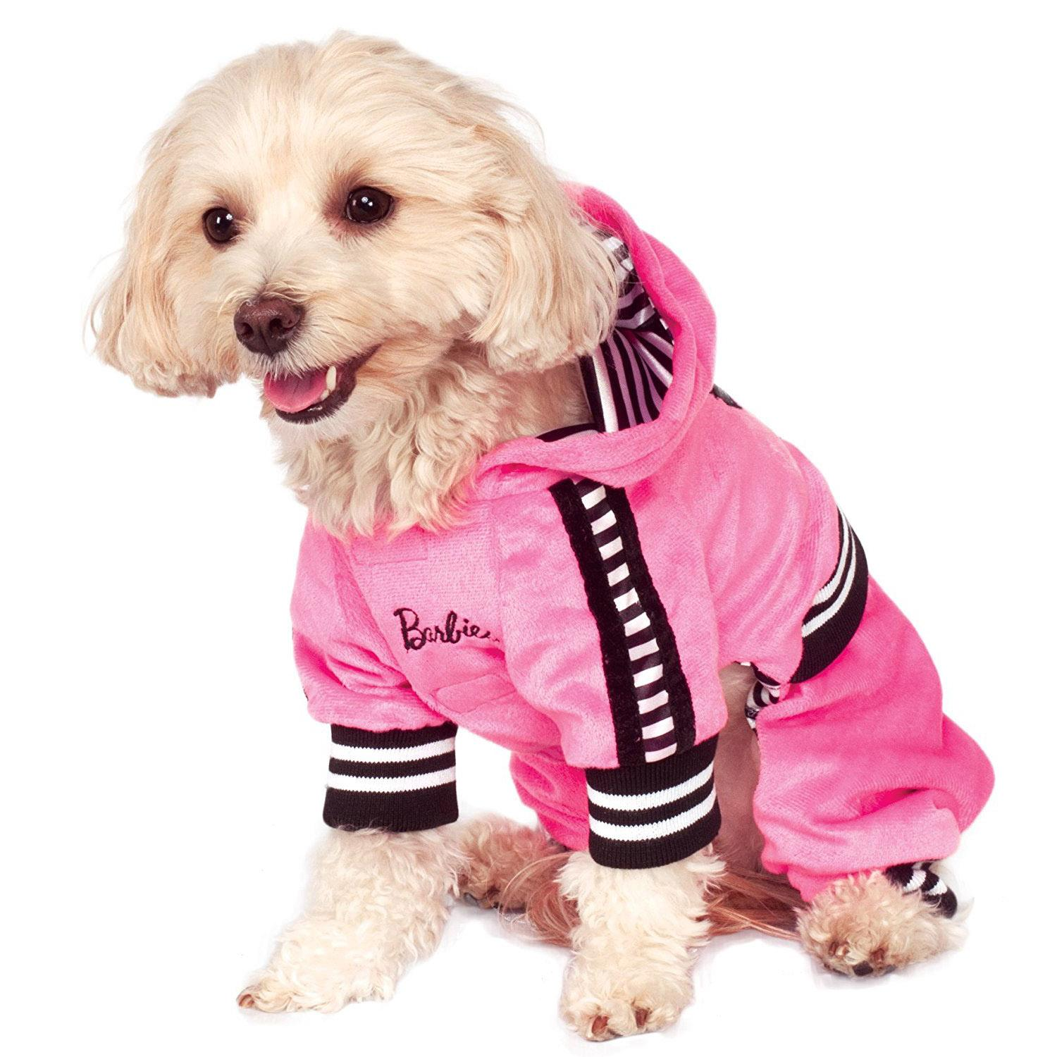 Barbie Girl Velour Tracksuit Pet Costume by Rubieu0027s  sc 1 st  BaxterBoo & Barbie Girl Velour Tracksuit Pet Costume by Rubieu0027s with Same Day ...
