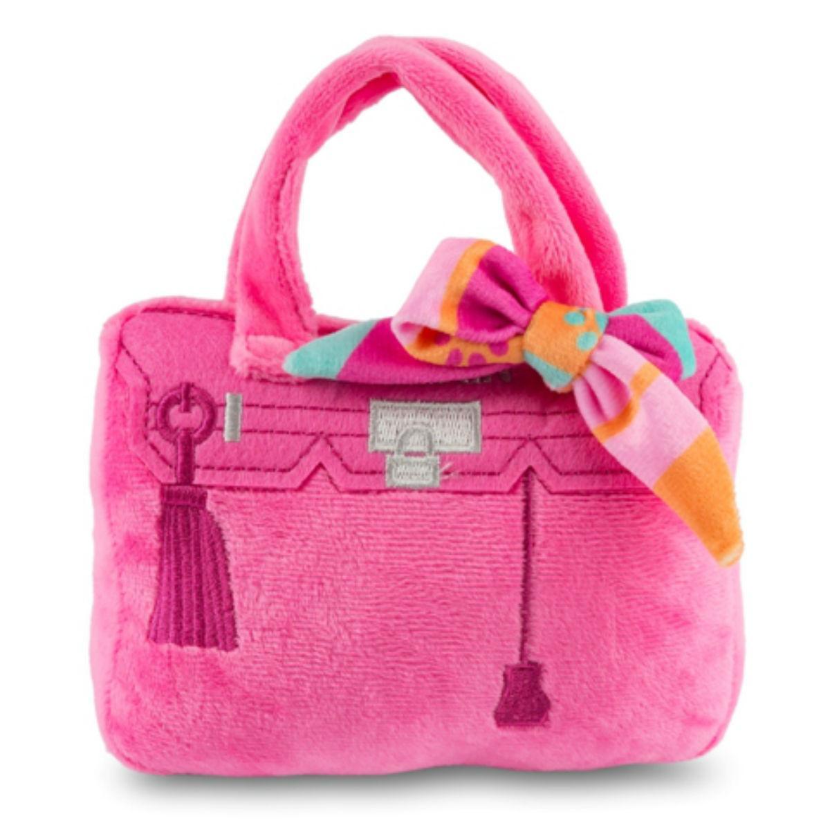 Barkin Bag Plush Dog Toy - Pink