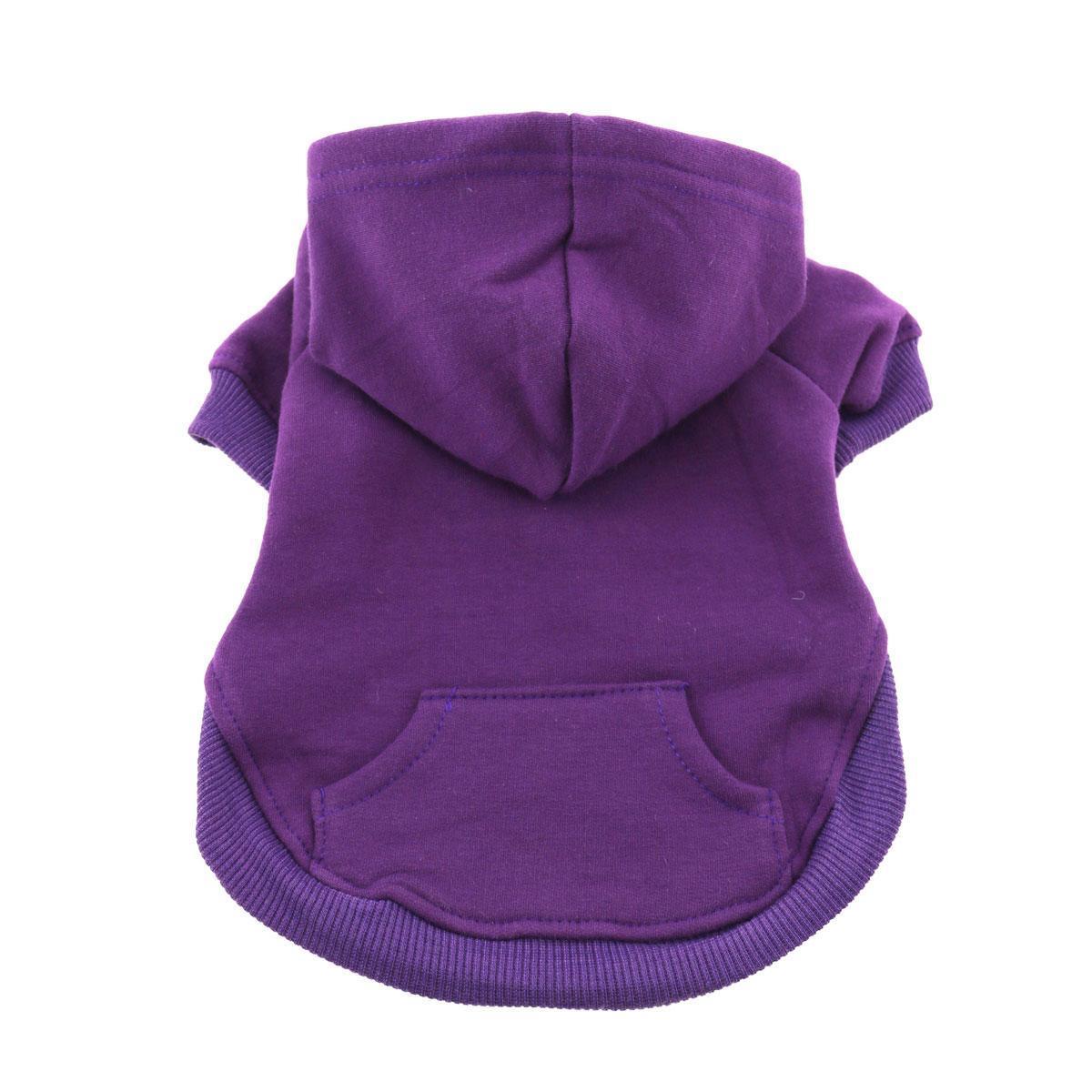 Barking Basics Dog Hoodie - Purple