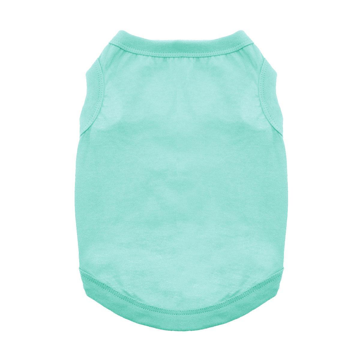 Barking Basics Dog Tank Shirt - Light Teal
