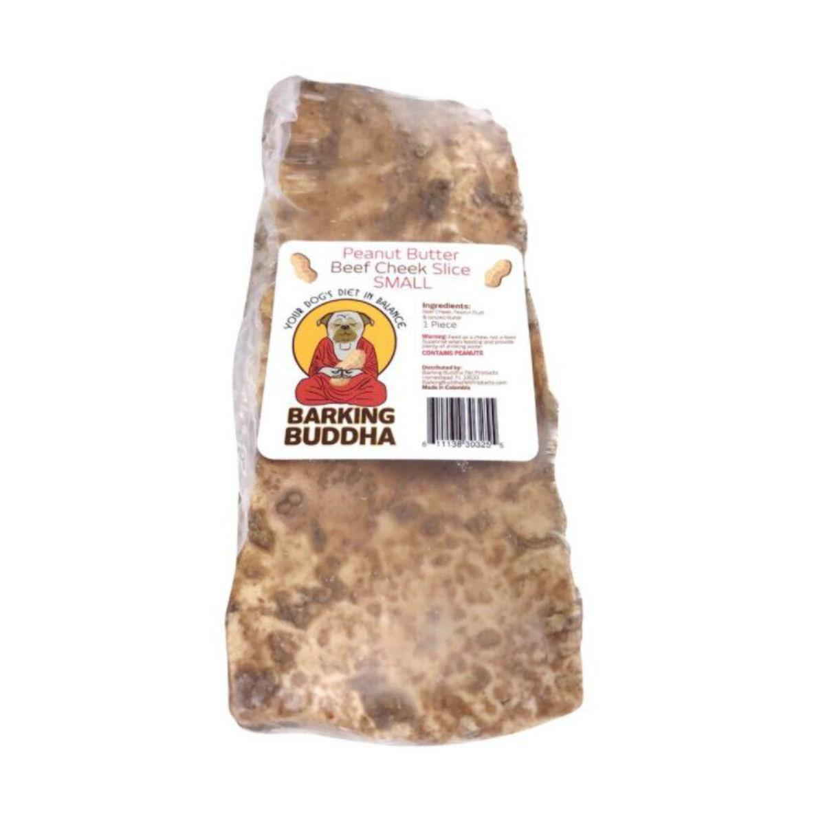 Barking Buddha Peanut Butter Beef Cheek Slice Dog Treats