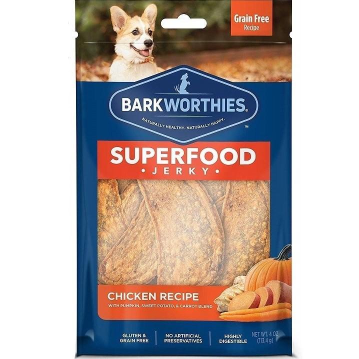 Barkworthies Chicken Jerky Dog Treats - Pumpkin, Sweet Potatoes and Carrots
