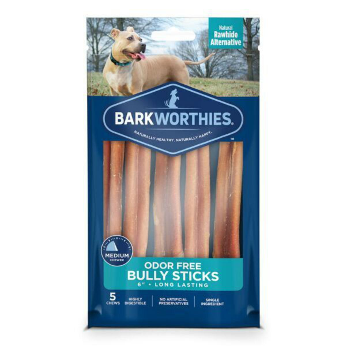 Barkworthies Odor Free Bully Stick - Multipack