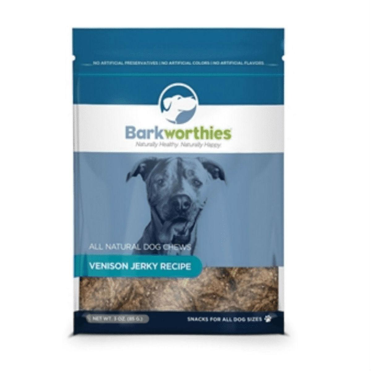 Barkworthies Venison Jerky Dog Treats