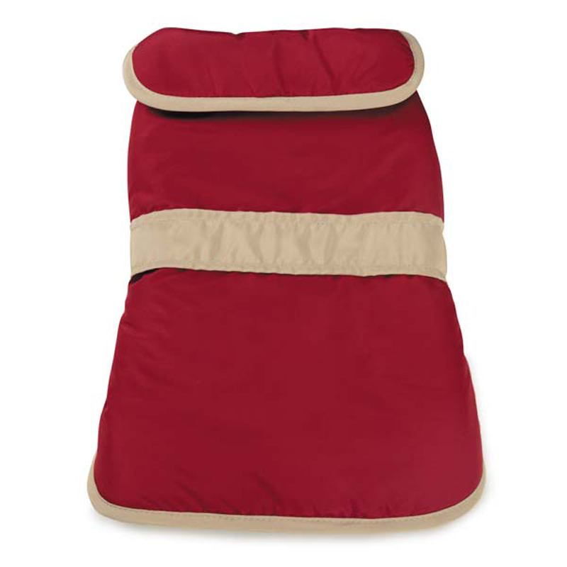 Barn Dog Coat with Contrast Trim - Cranberry