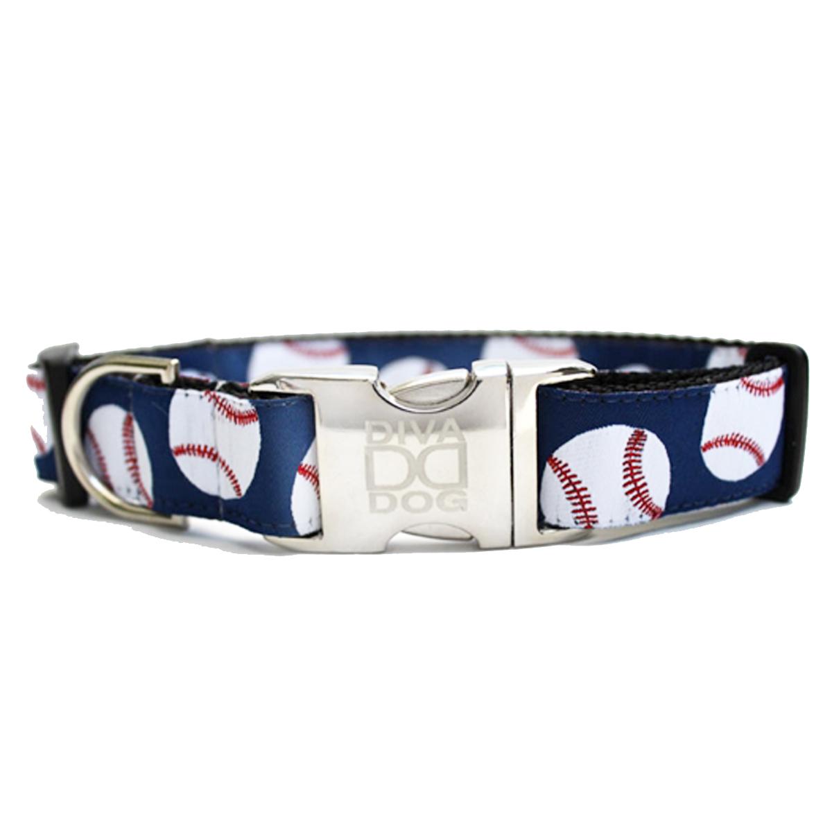 Baseball Dog Collar by Diva Dog