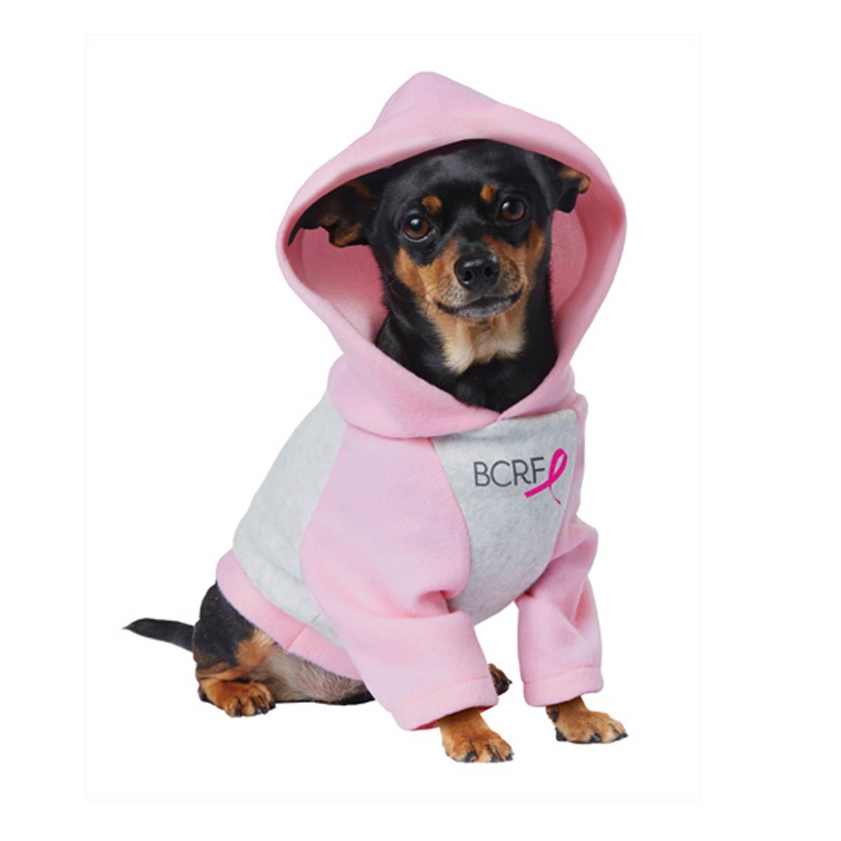 BCRF Pink Ribbon Dog Hoodie