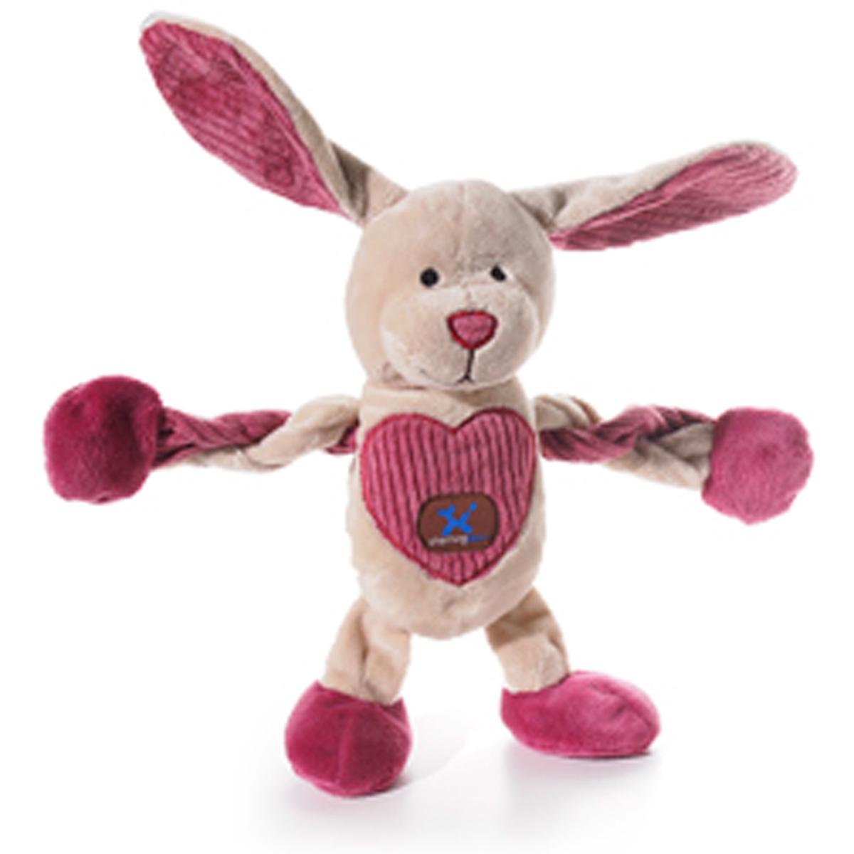 Be-Mine Bunny Pulleez Dog Toy