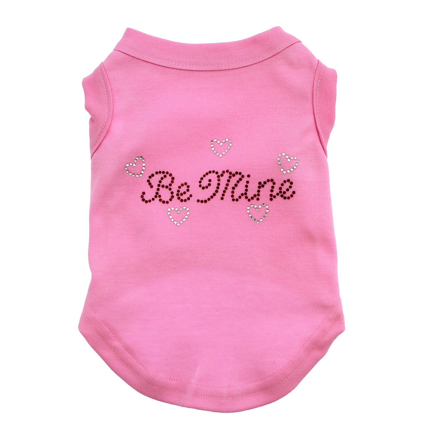 Be Mine Rhinestone Dog Tank - Light Pink