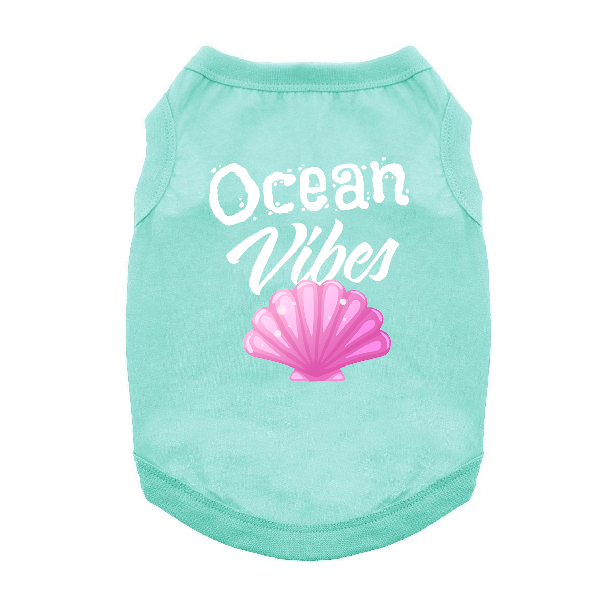 Ocean Vibes Dog Shirt - Teal