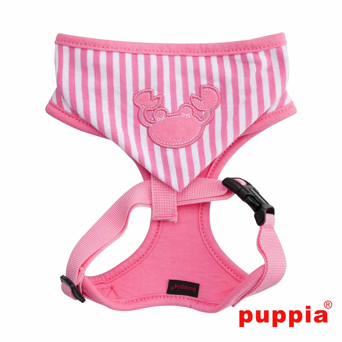 Beach Party Adjustable Dog Harness by Puppia - Pink with Hood with
