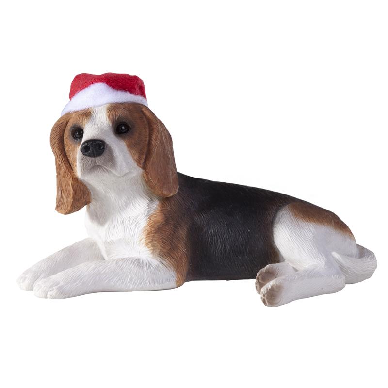 beagle christmas ornament laying down - Christmas Beagle