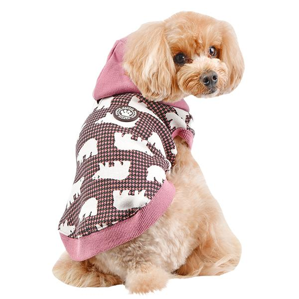 Beale Hooded Dog Shirt By Puppia - Pink