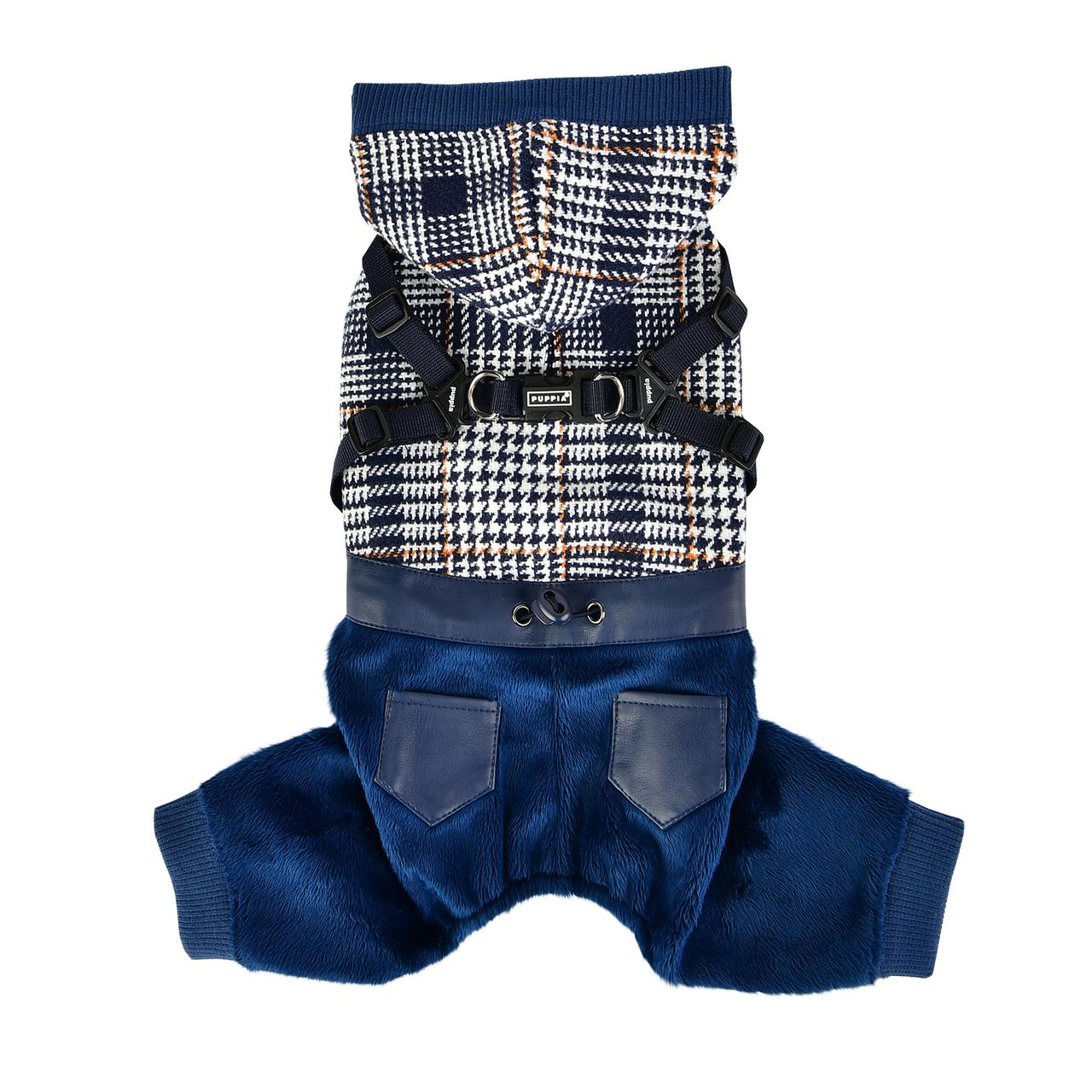 Becker Jumpsuit Dog Hoodie by Puppia - Navy