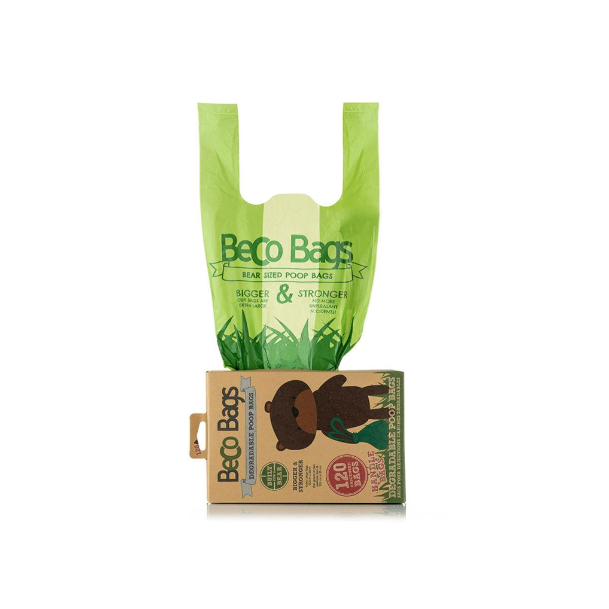 BECO Degradable Dog Poop Bags with Handles