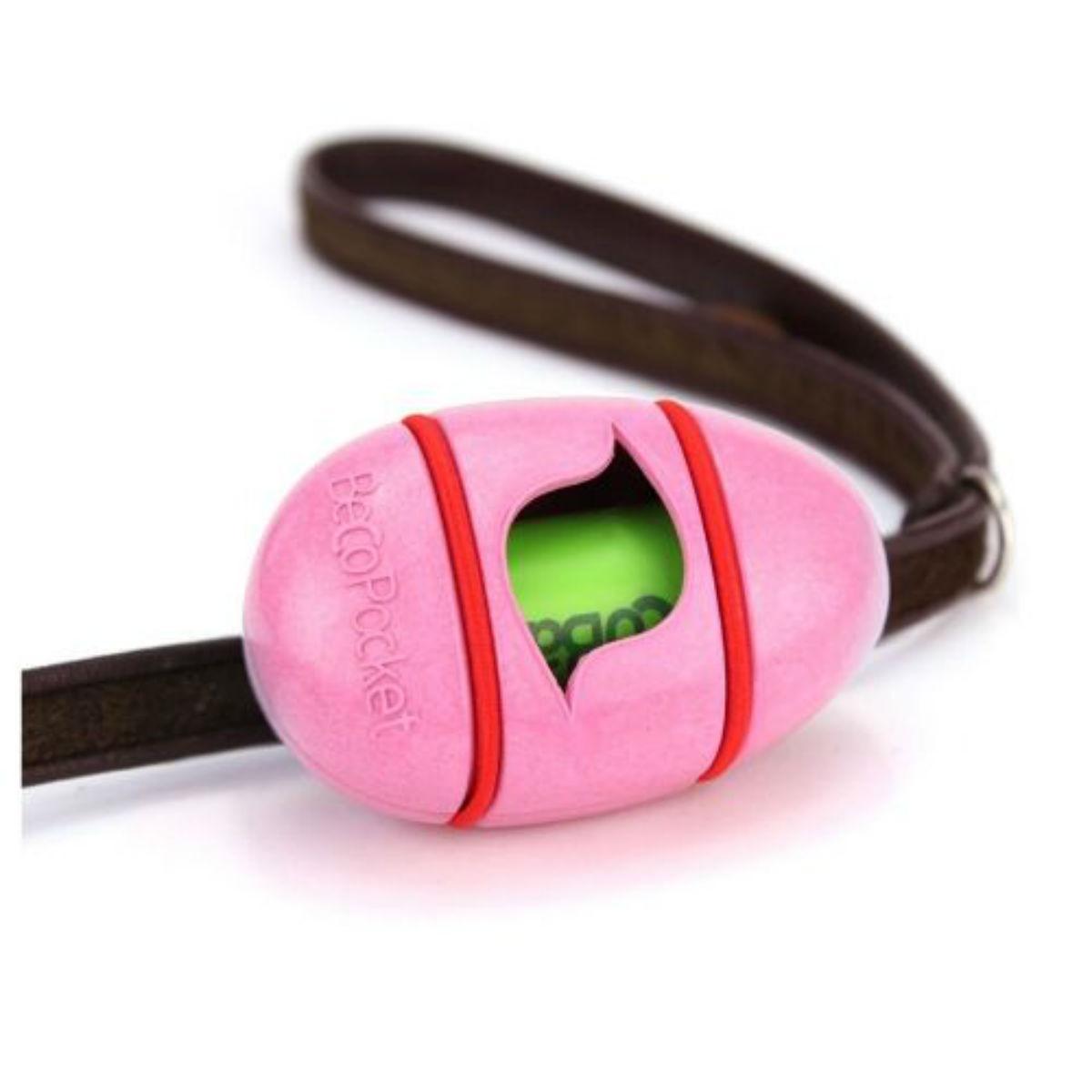 BECO Degradable Pocket Dog Poop Bag Dispenser - Pink