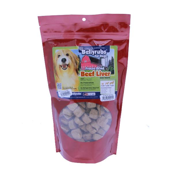 Bellyrubs Freeze-Dried Beef Liver Dog Treats