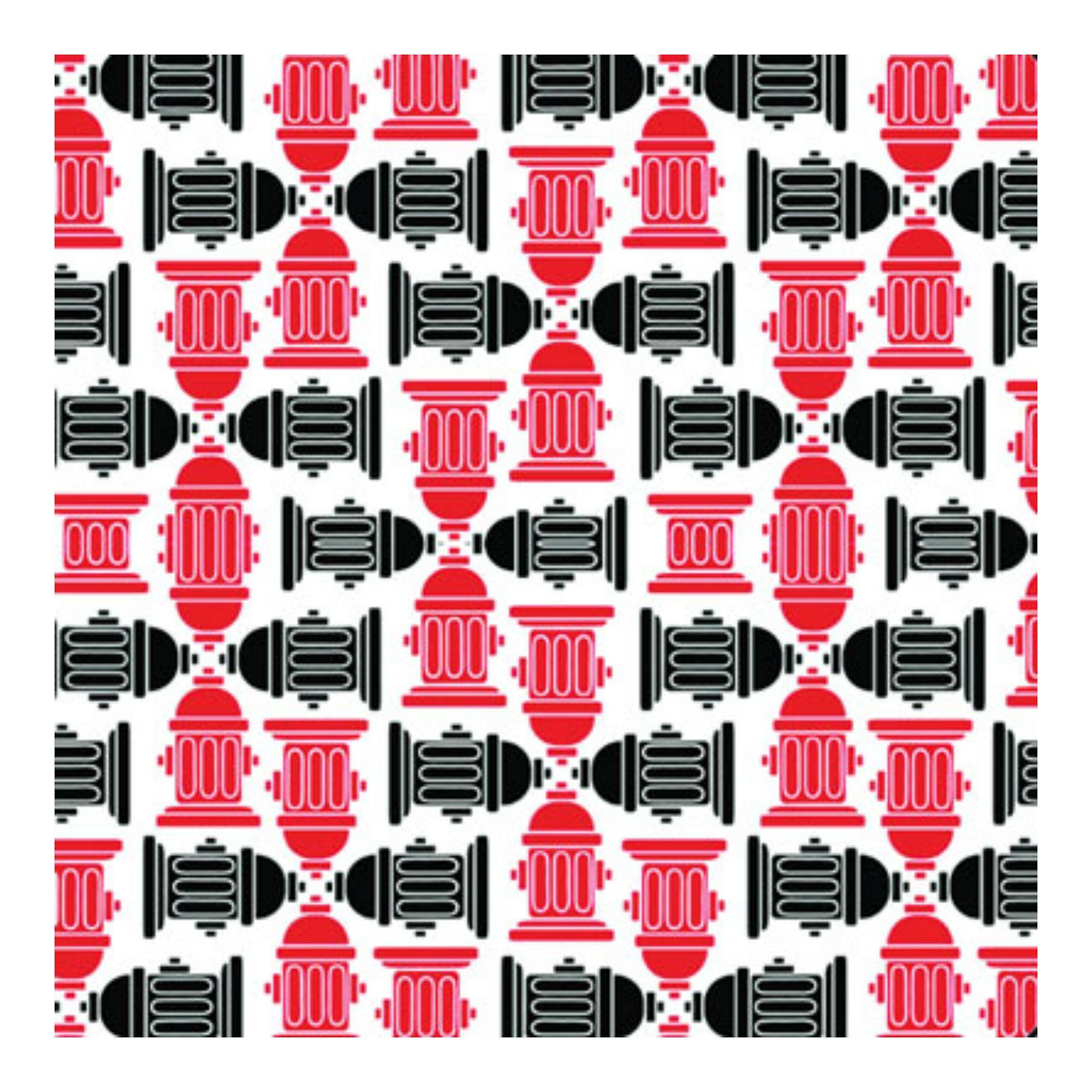 Fire Hydrant Dog Bandana - Red/Black