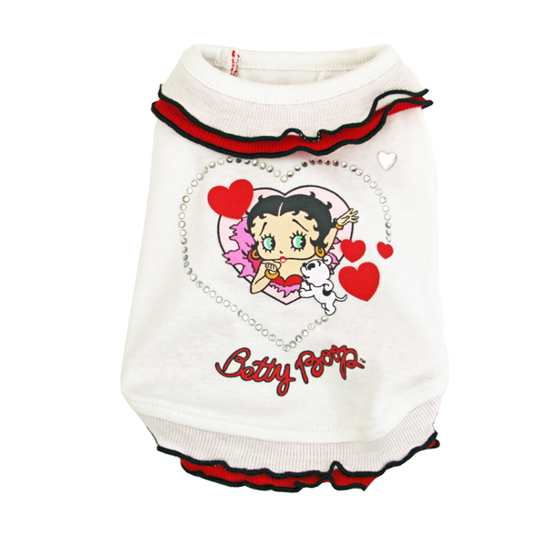 Betty Boop White Ruffle Dog Dress