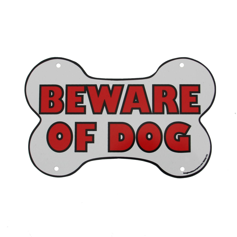 Beware of Dog Sign - Bone Shaped
