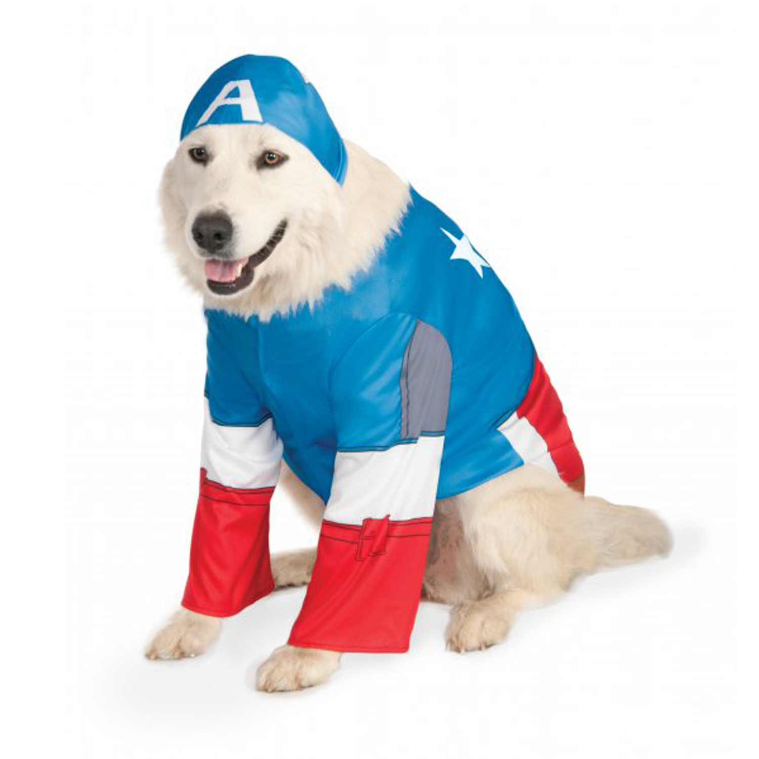 Big Dog Marvel Captain America Dog Costume  sc 1 st  BaxterBoo & Big Dog Marvel Captain America Dog Costume with Same Day Shipping ...