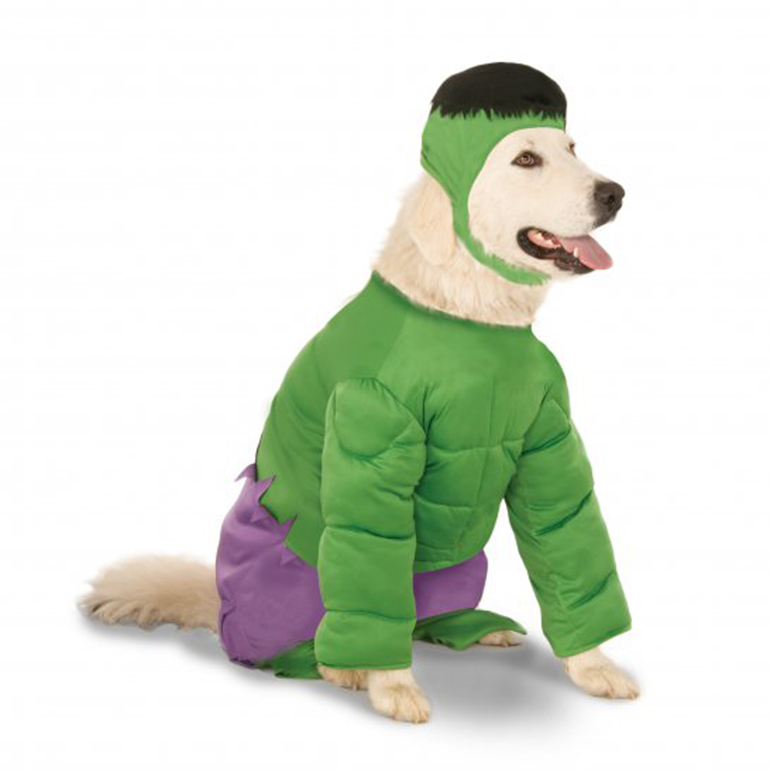 Big Dog Marvel Incredible Hulk Dog Costume with Same Day Shipping